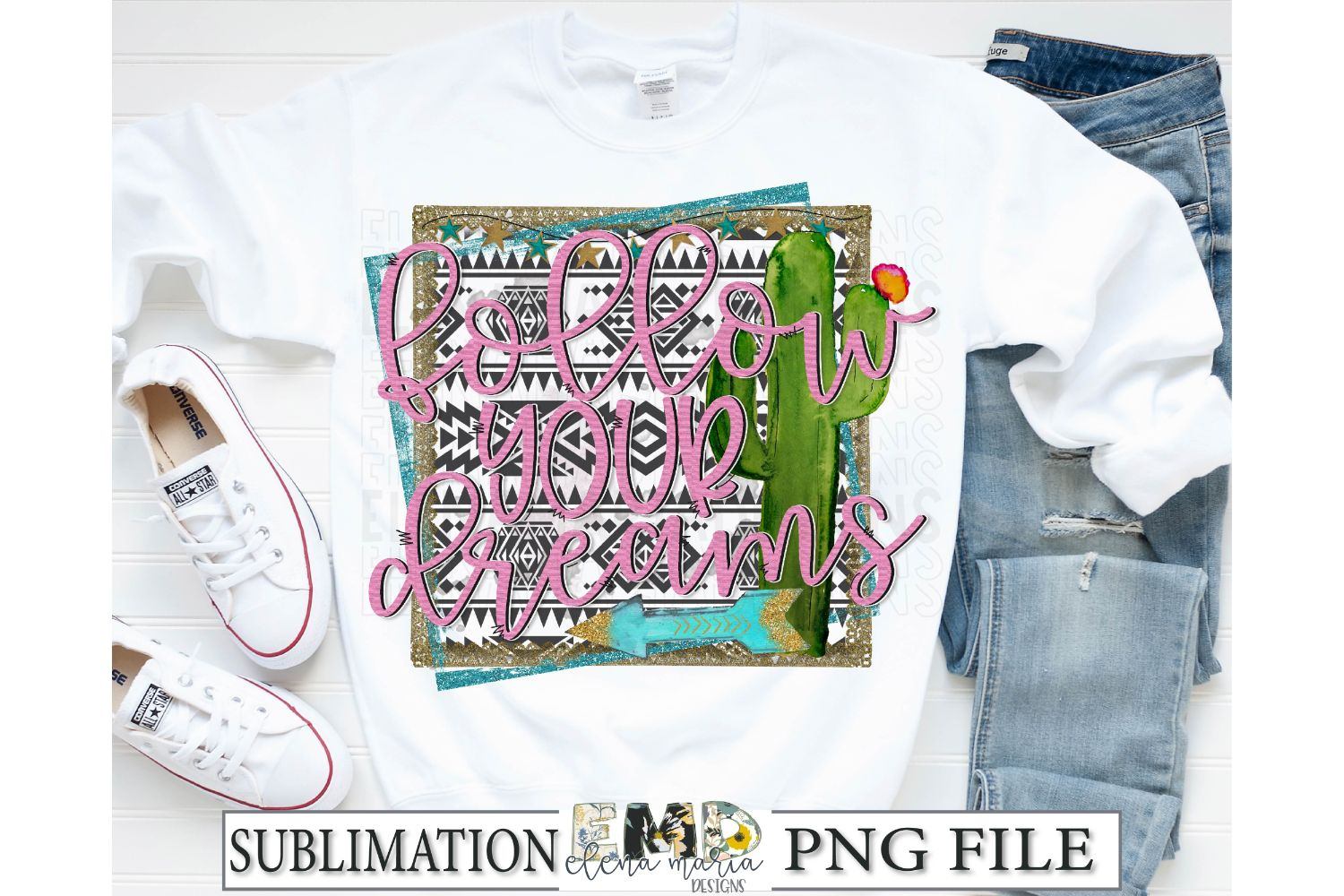 Follow Your Dreams Sublimation Transfer PNG Clipart example image 2