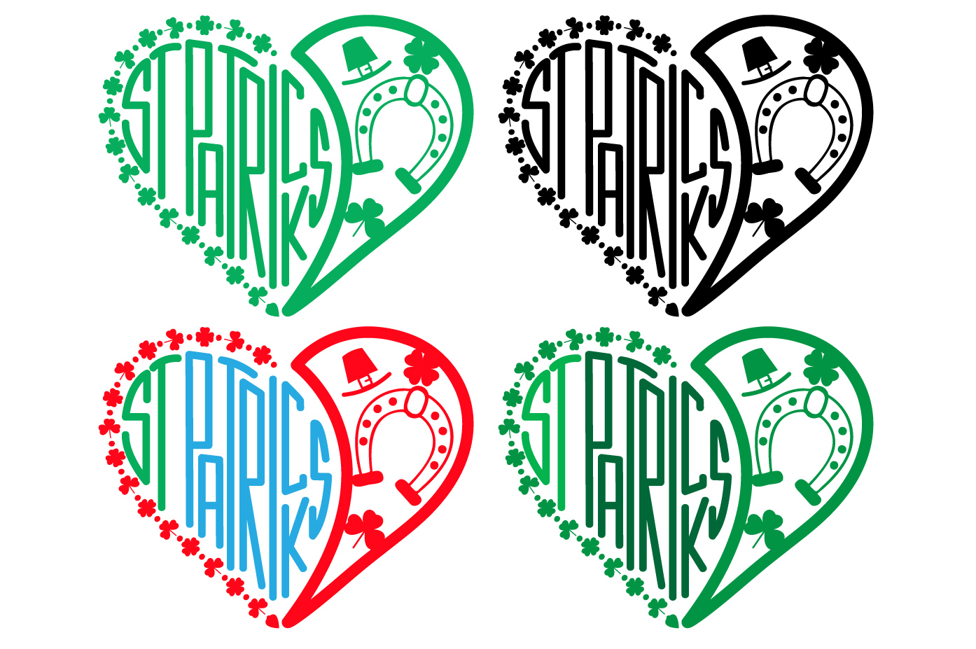 St. Patricks Day SVG love heart Saint -69sv example image 2