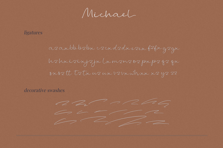 Michael - a casual handwritten script example image 3