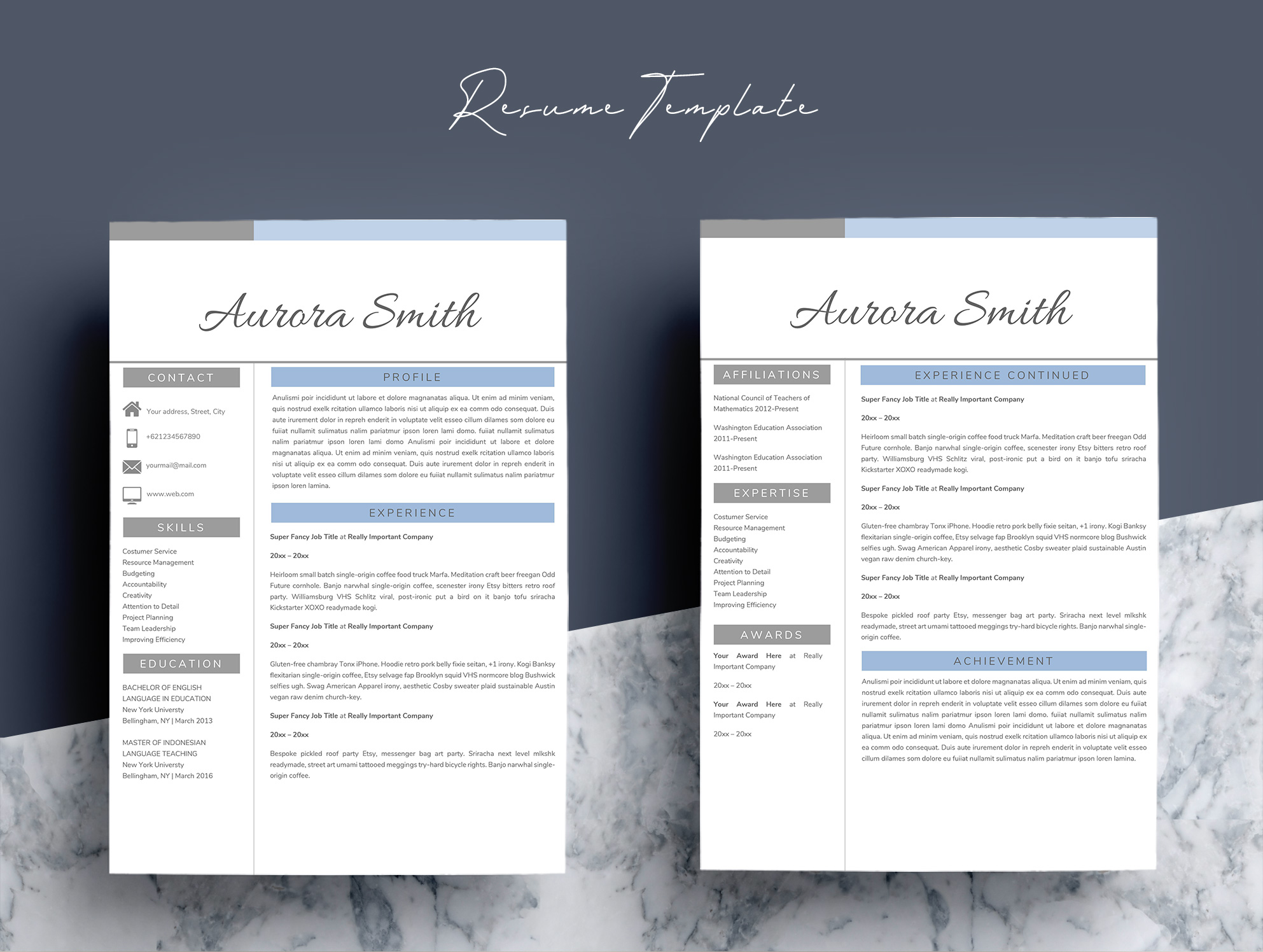 Resume Template Word CV example image 6