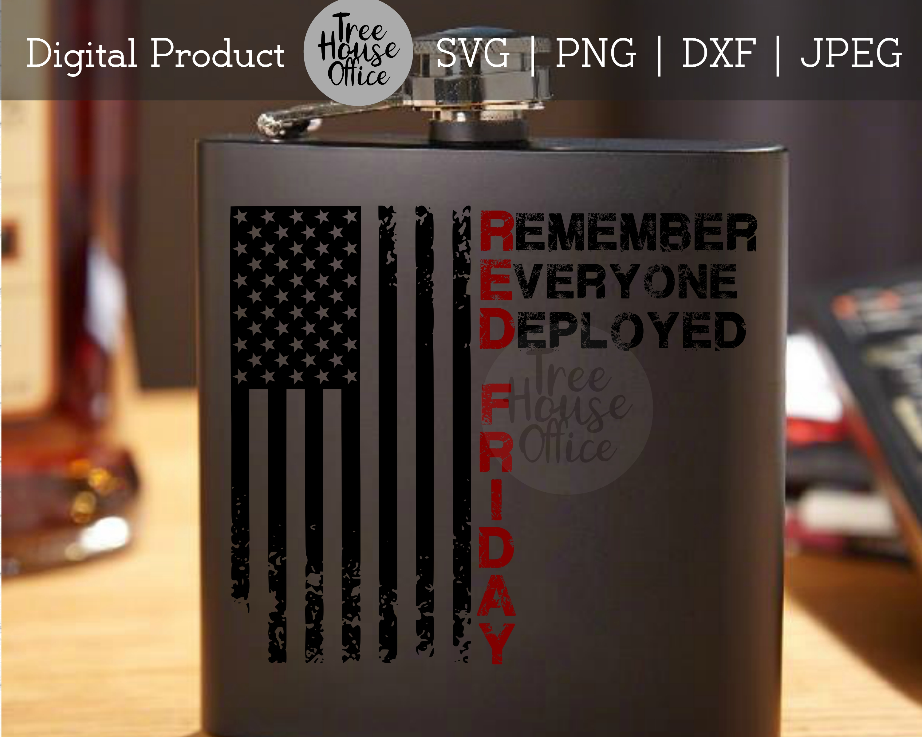 RED Friday Remember Everyone Deployed Veterans SVG PNG JPEG example image 4