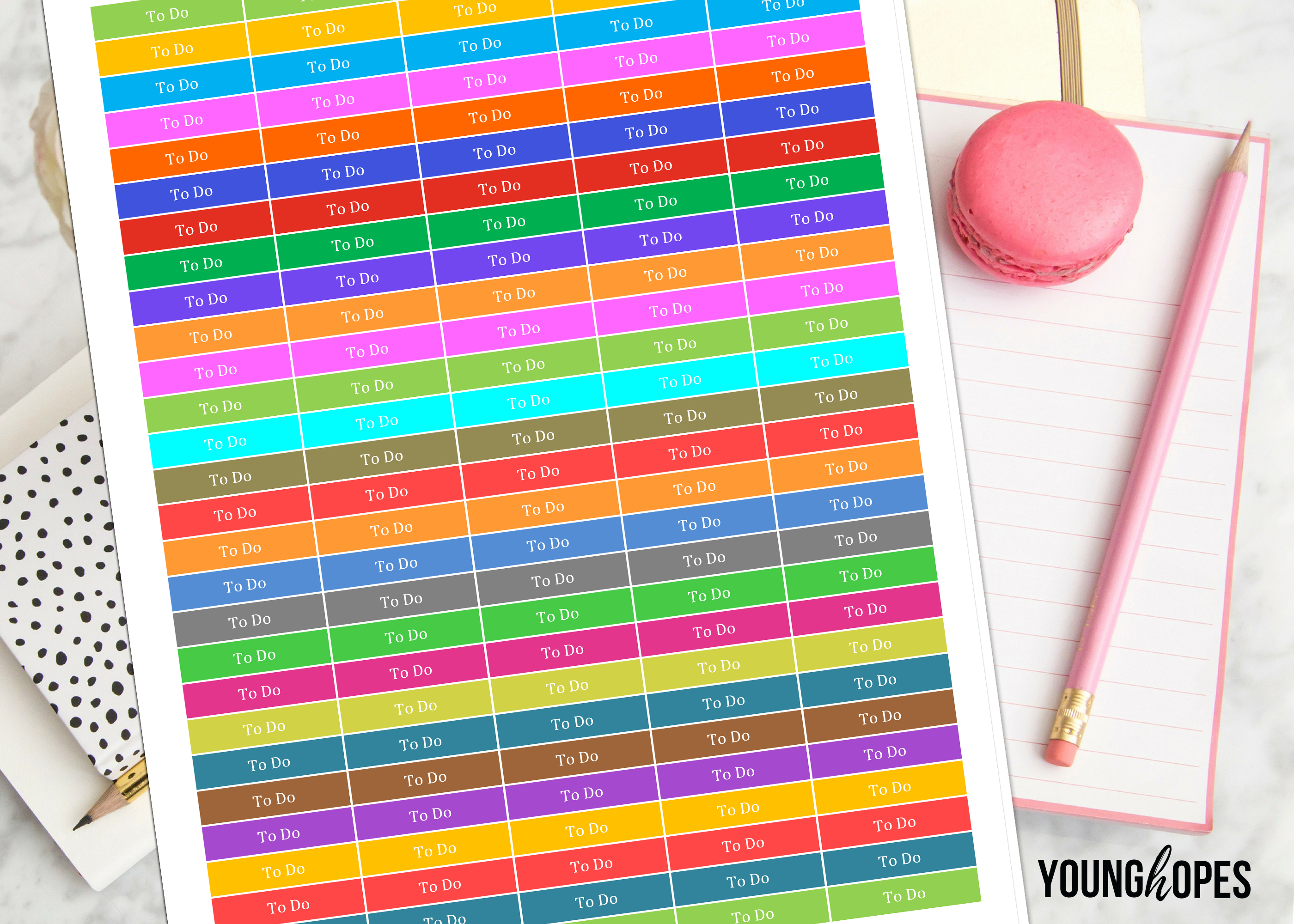 To Do Planner Stickers-To Do Planner Headers example image 2