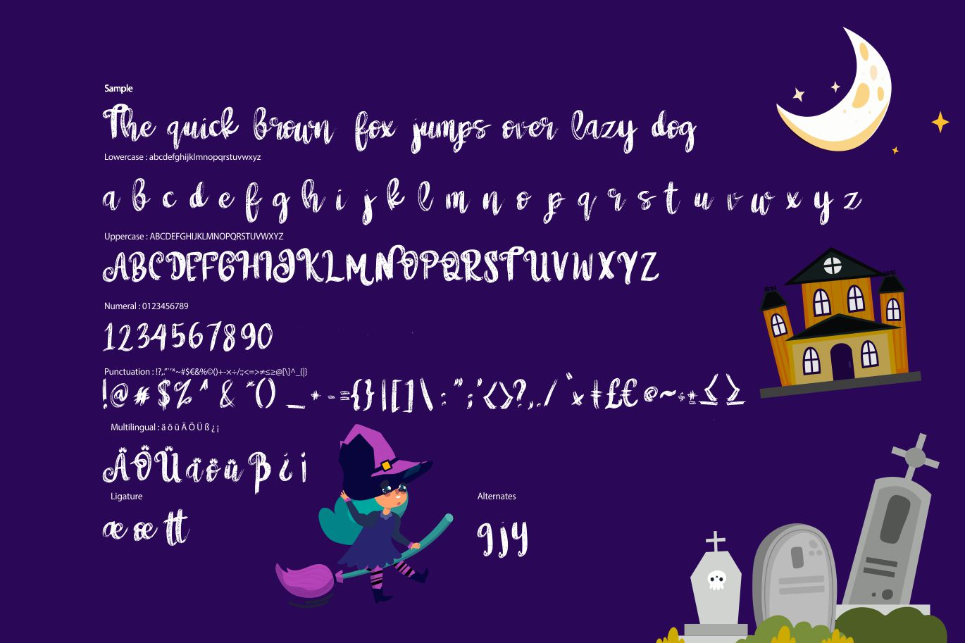 Witch girls | Script Halloween Font example image 6