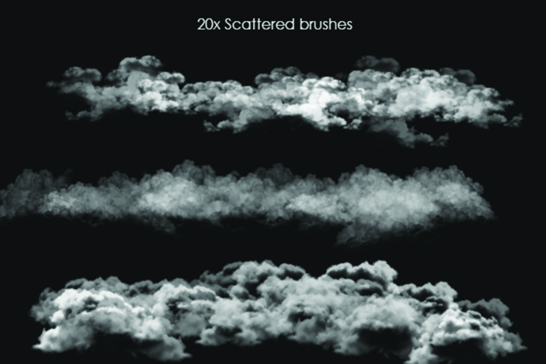 40 Cloud Brushes for Photoshop example image 2