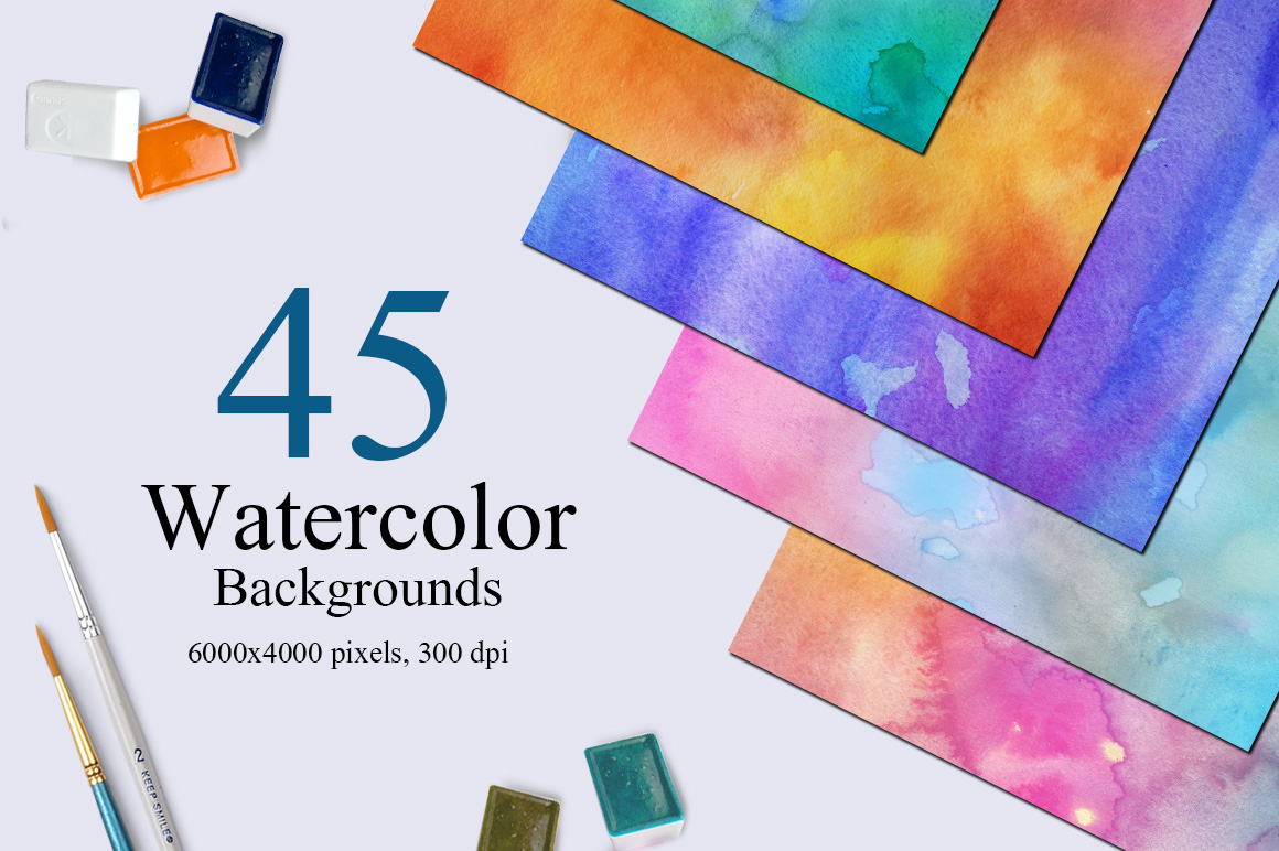 45 Watercolor Backgrounds example image 1