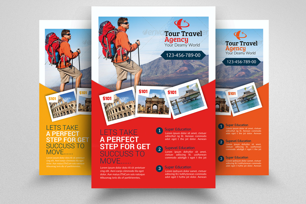 6 Tour Travel & Holiday Agency Flyers Bundle example image 6