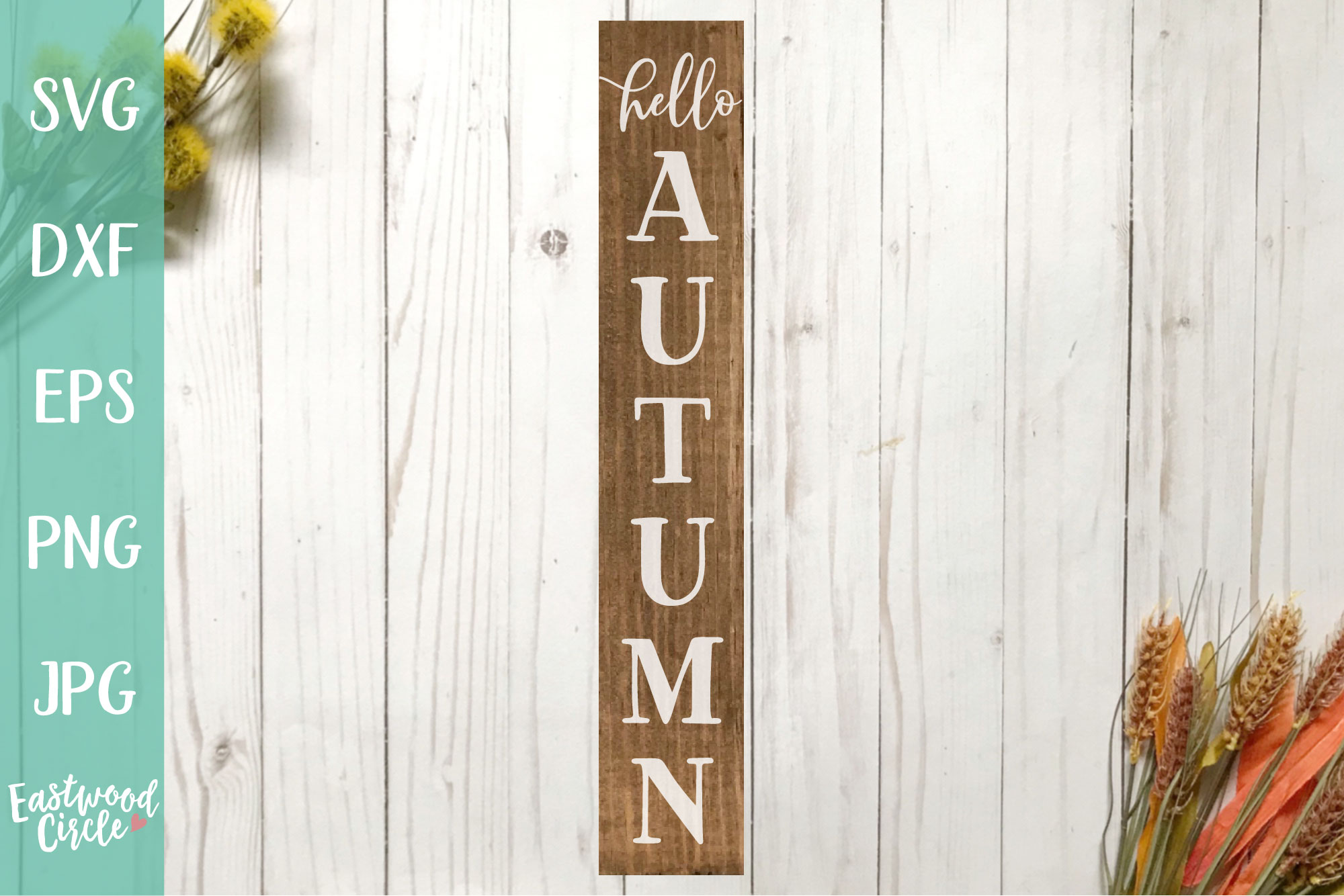 Hello Autumn - Fall SVG File for Signs example image 1