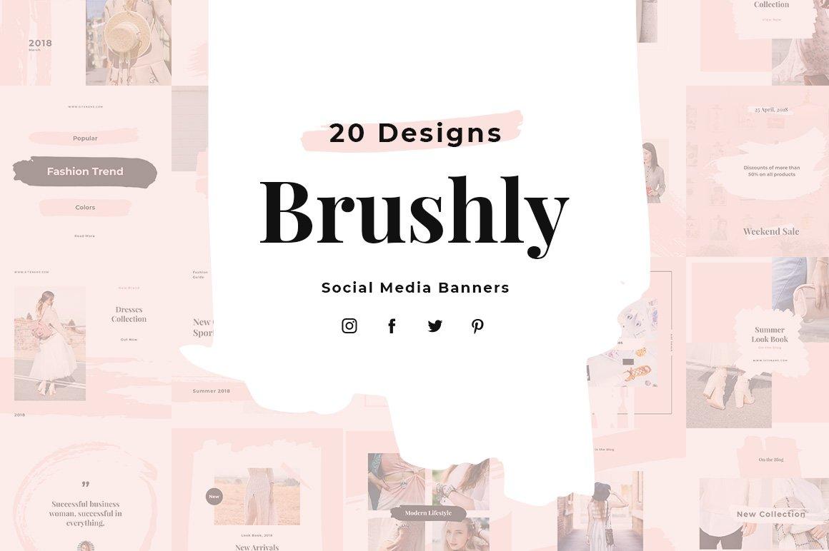 Brushly Social Media Pack example image 1