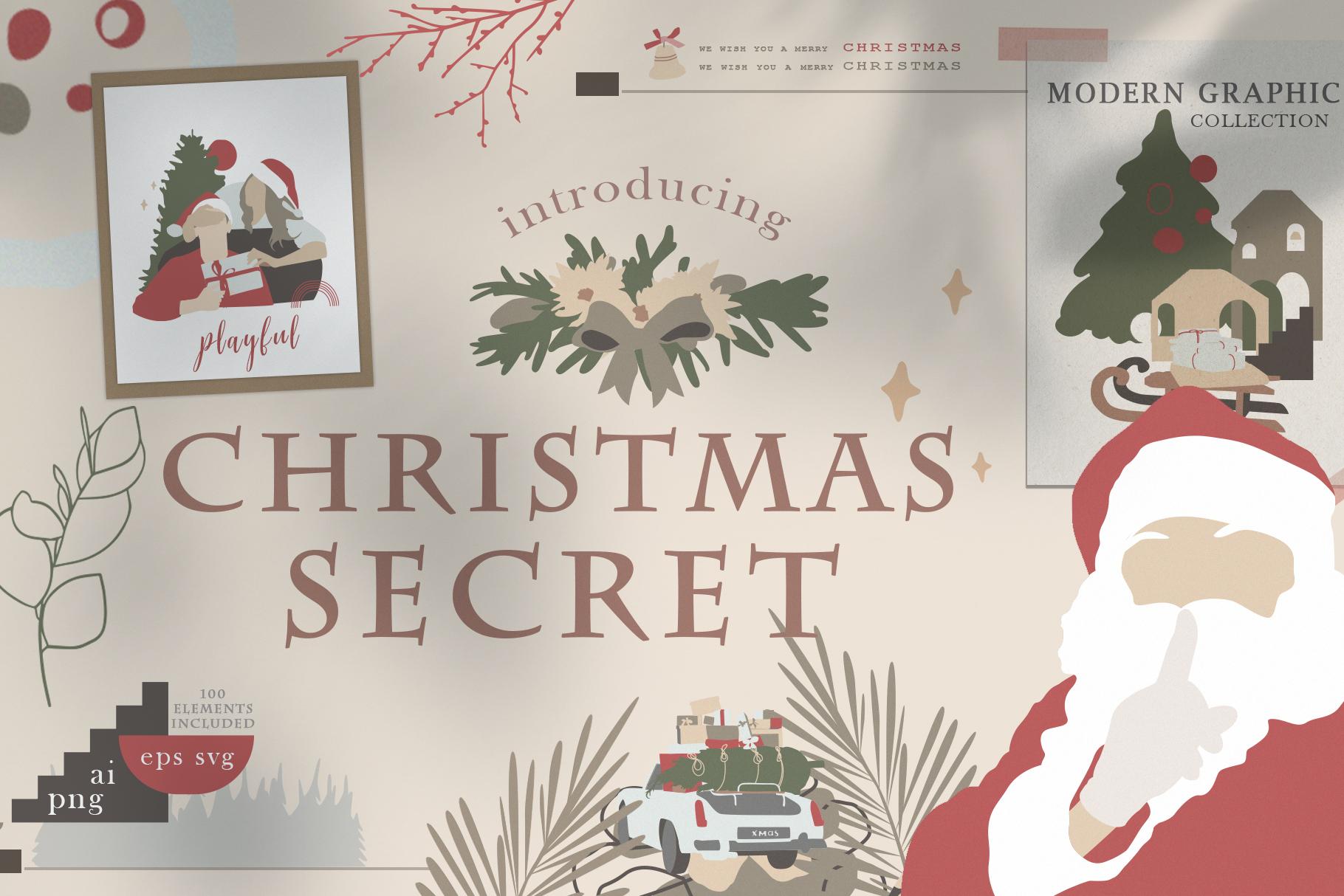 Christmas Secret Modern Graphic Set example image 1