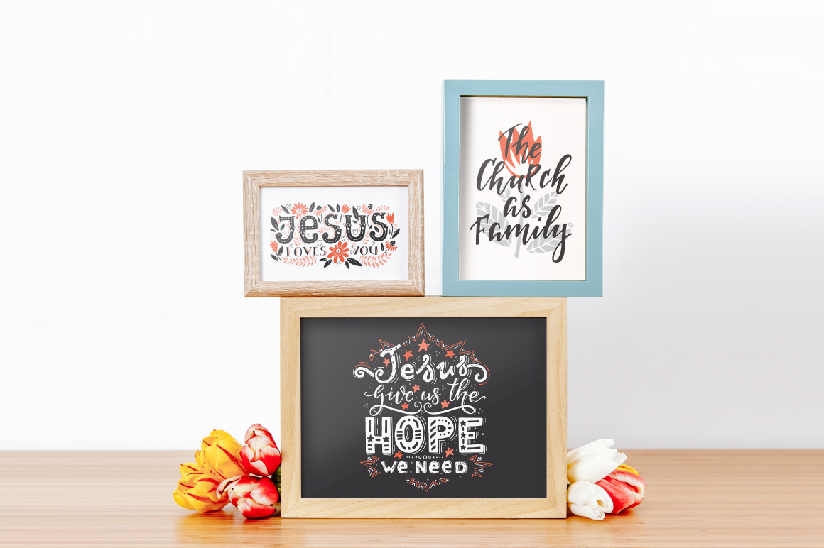 Bible lettering PACK example image 13