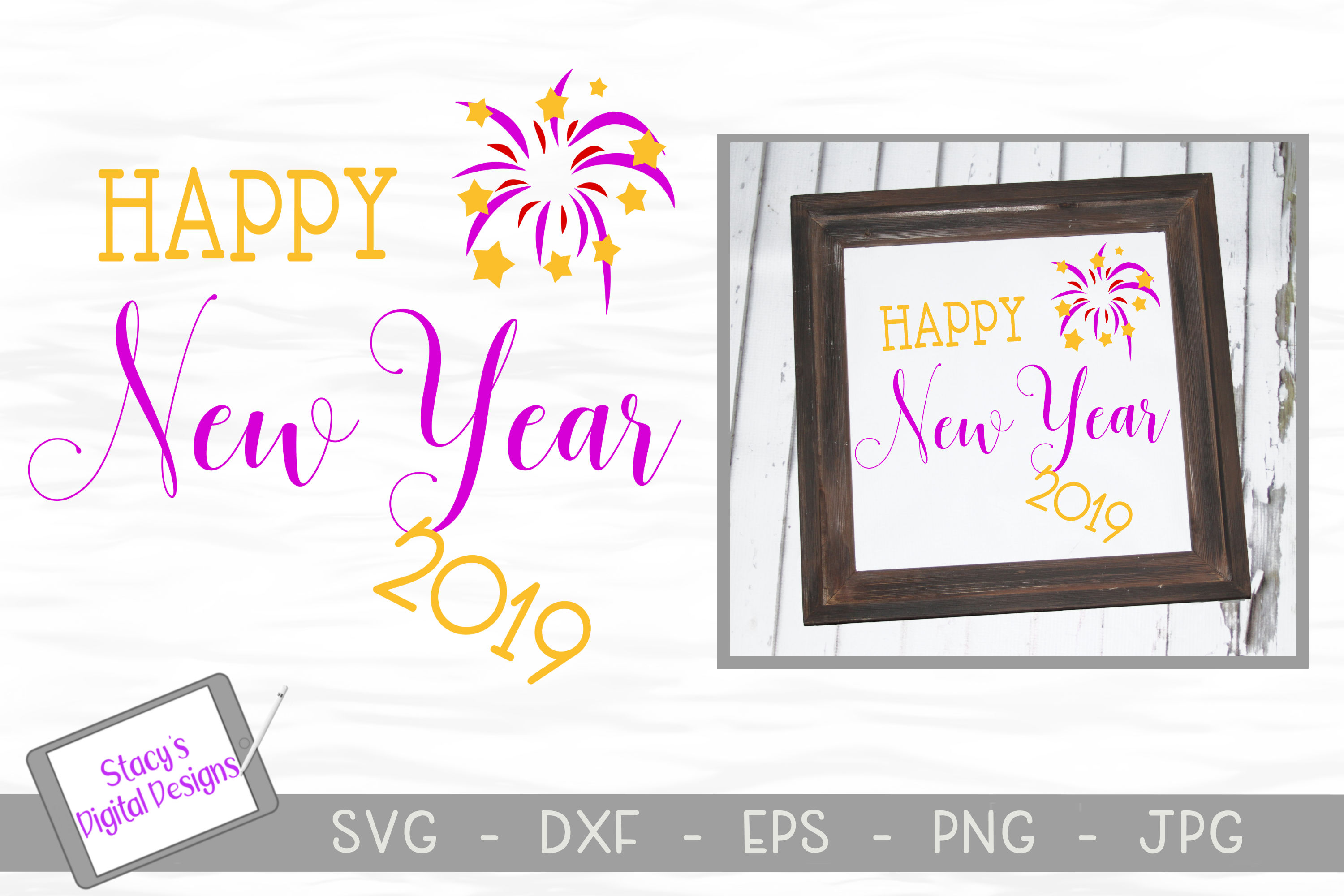 new year svg happy new year 2019 with fireworks example image 1