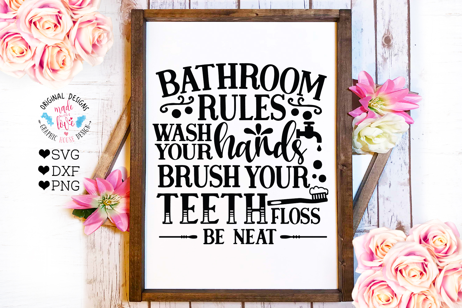 Home and Summer Decor Rules Cut File Bundle example image 2