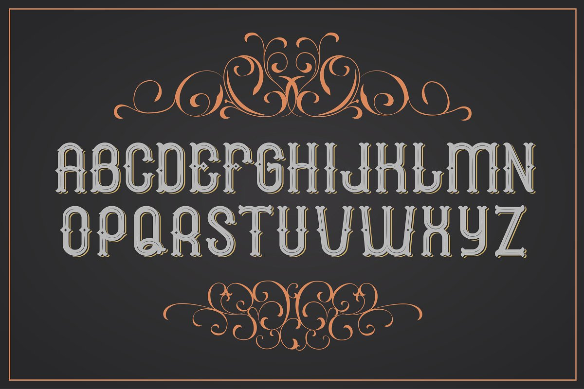 Cognac. Font for label. Uppercase only! example image 2
