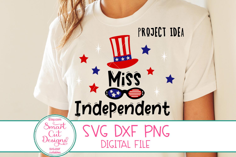 4th Of July SVG, Miss Independent SVG, US Flag Hat SVG, DXF example image 3