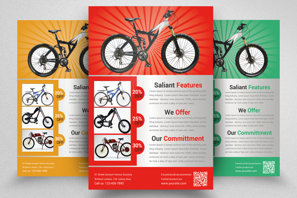 6 Products Promotion Flyers Bundle example image 4