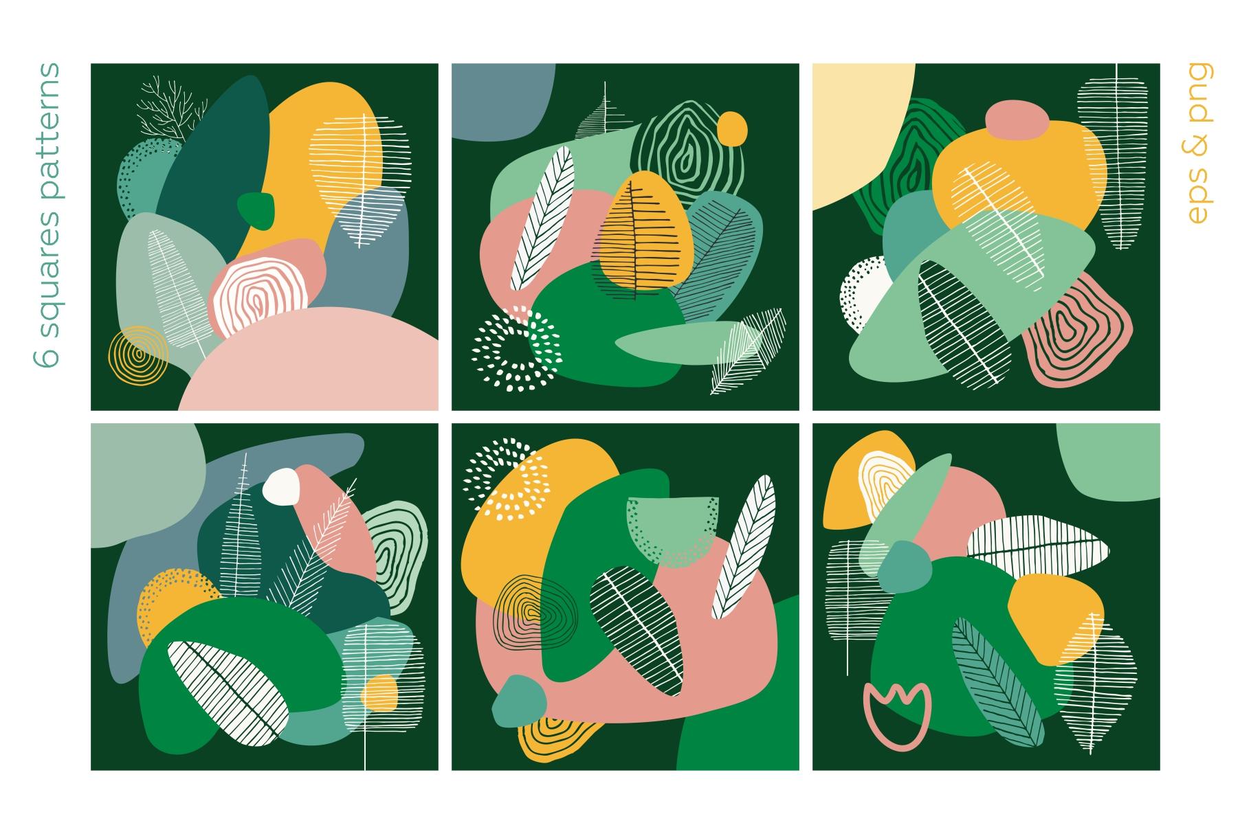 Seasonarium. Abstract botanical pattern and graphic set. example image 8