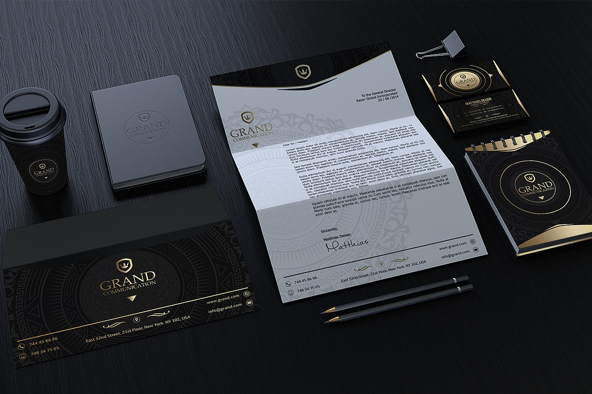 Gold And Black Corporate Identity example image 4