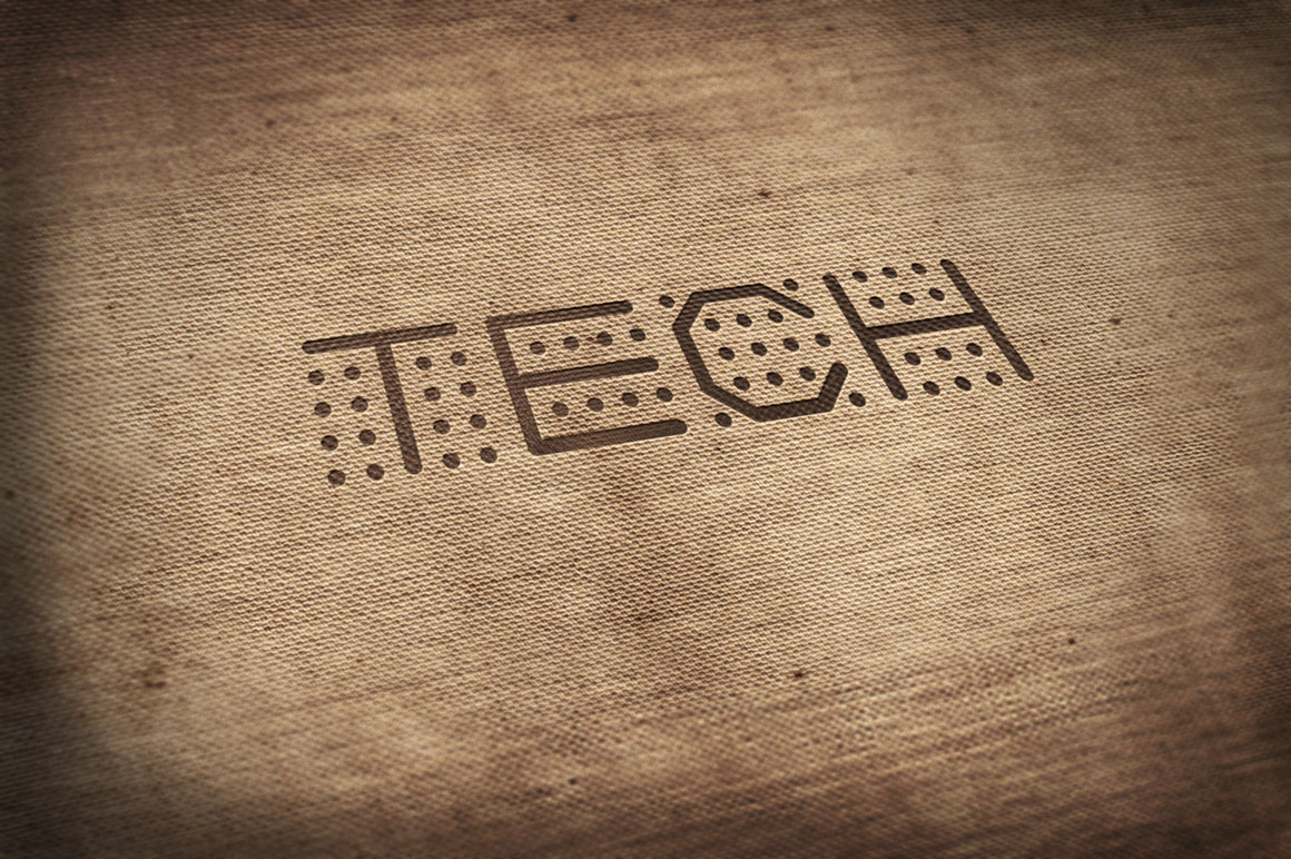 Dotted font - digital techno design example image 3