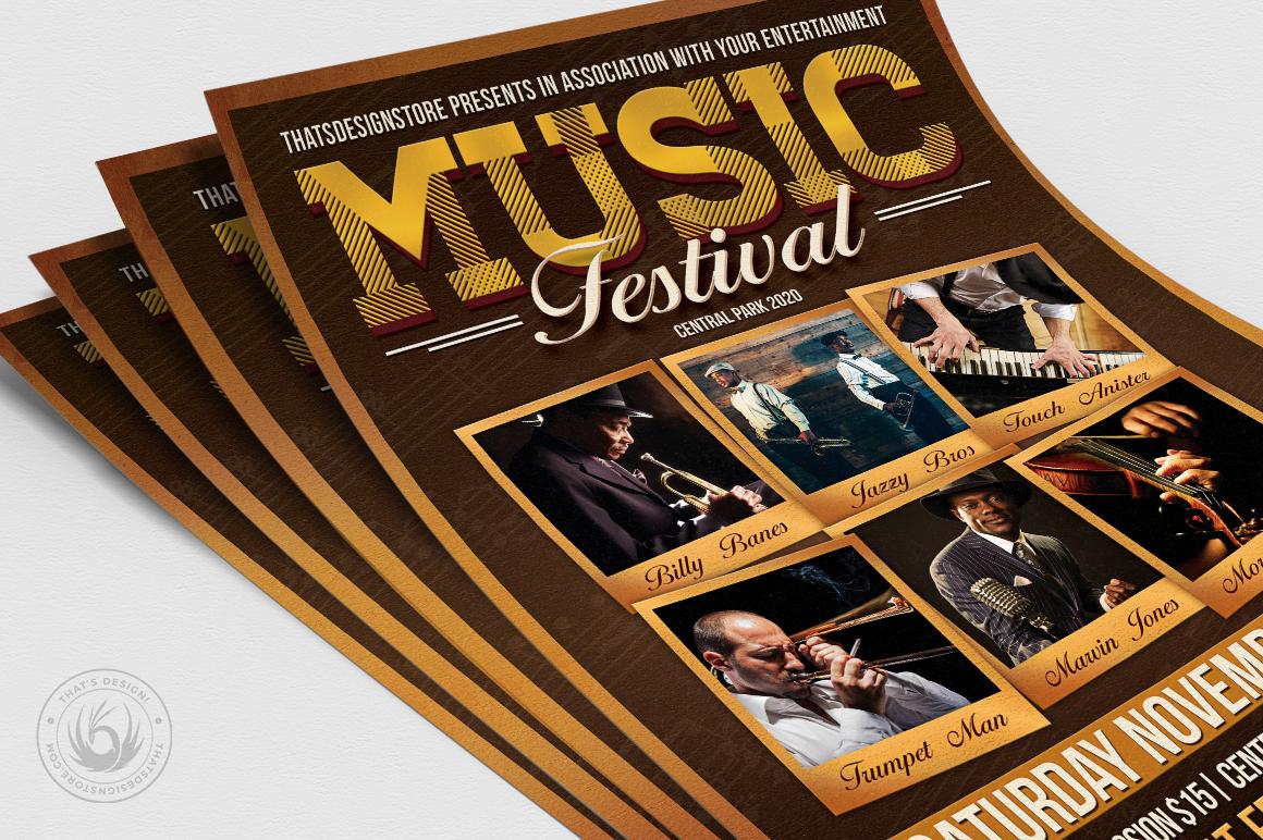 Music Festival Flyer Template V7 example image 5