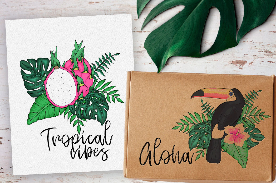 Tropics forever! Vector set example image 2