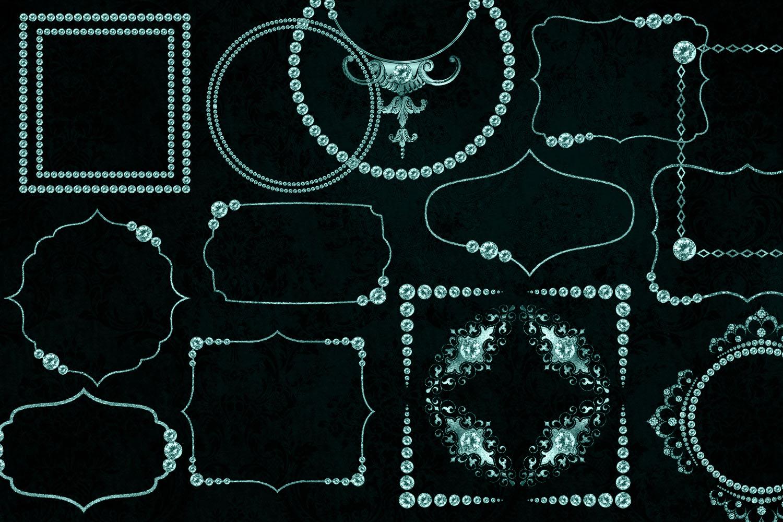 Aqua Diamond Frames Clipart example image 3
