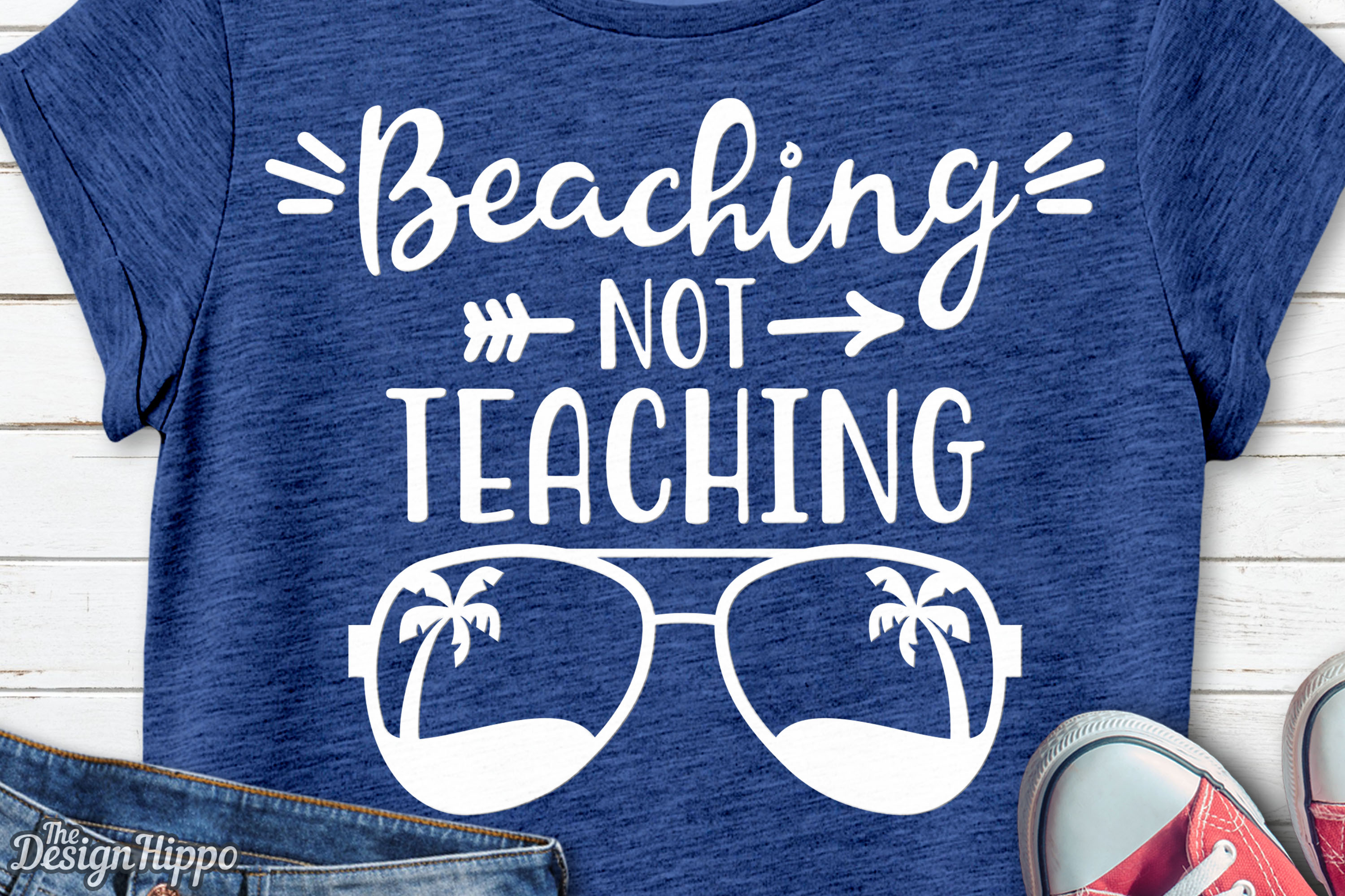 Beaching Not Teaching svg, Teacher svg, Summer svg, PNG, DXF example image 2