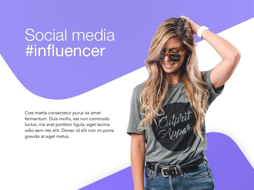 Influencer Marketing Google Slides Template example image 2