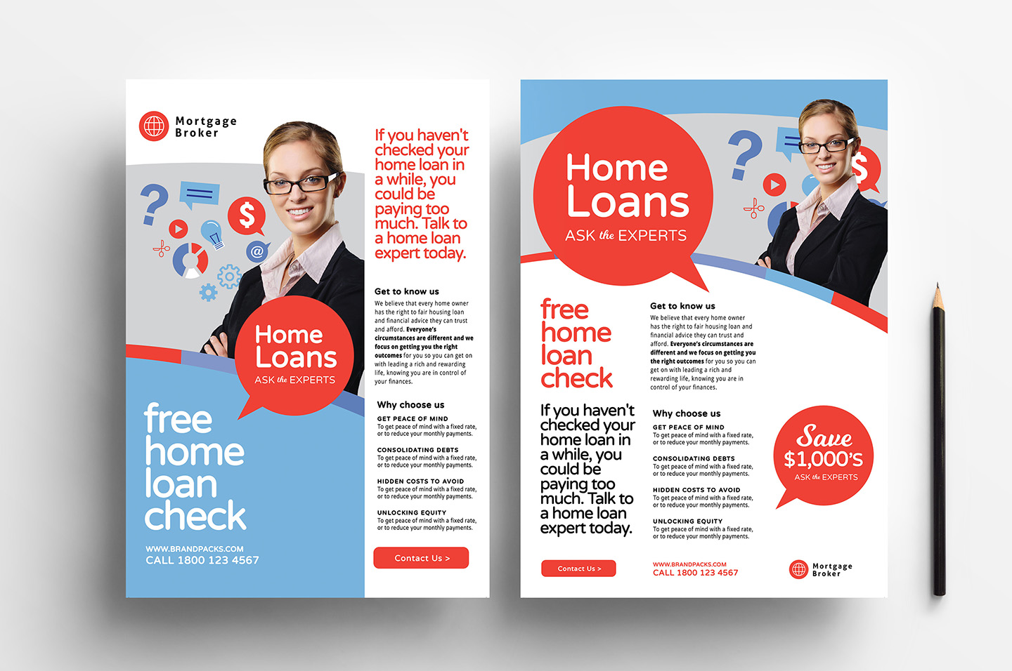 A4 Modern Corporate Advertisement Templates example image 1