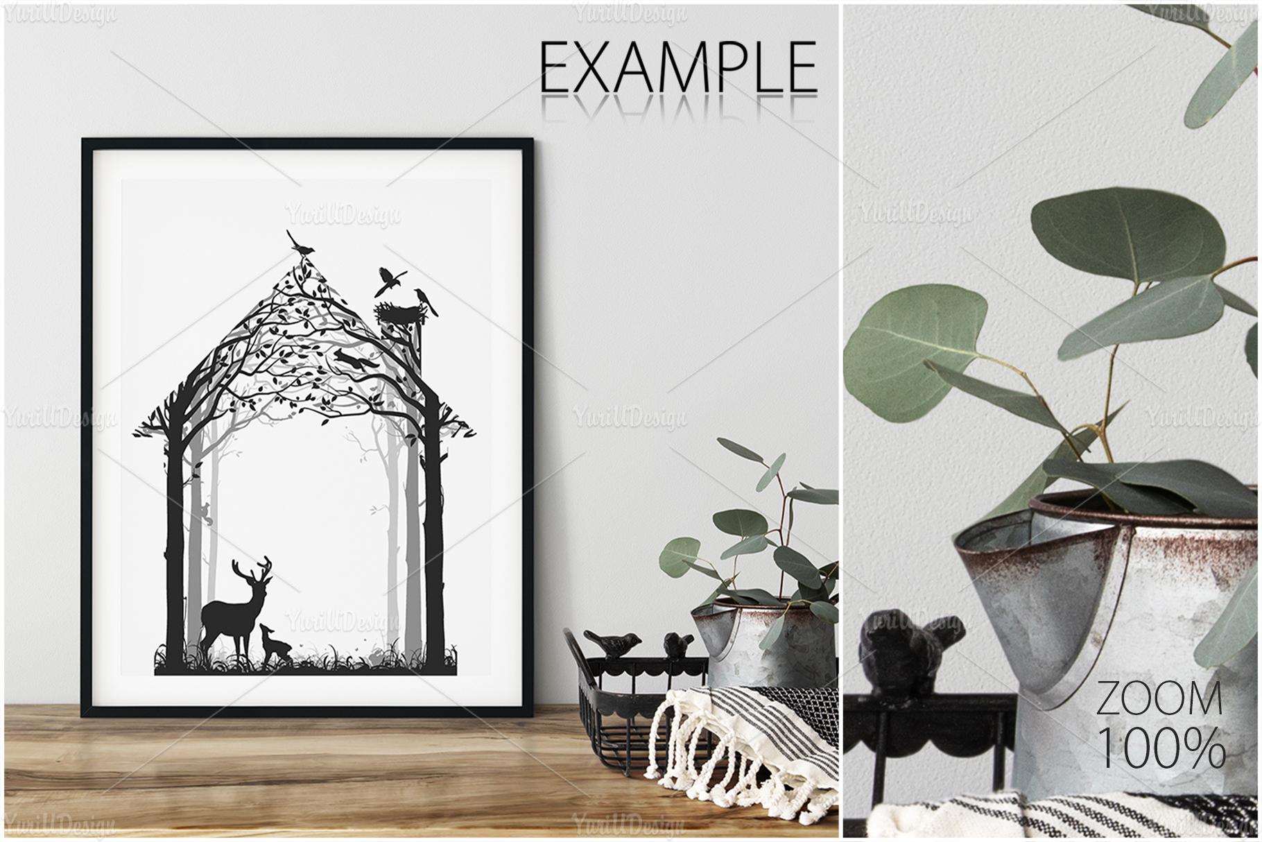 Scandinavian Interior Frames & Walls Mockup Bundle - 3 example image 25