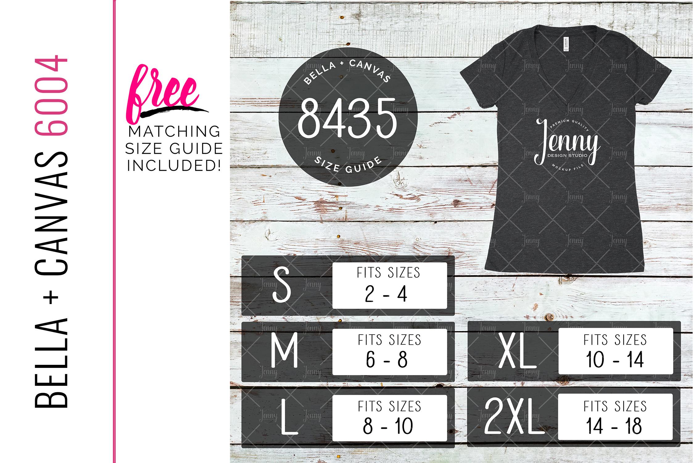 Bella Canvas 8435 Unisex Mockup Bundle, Womens T-Shirt example image 7
