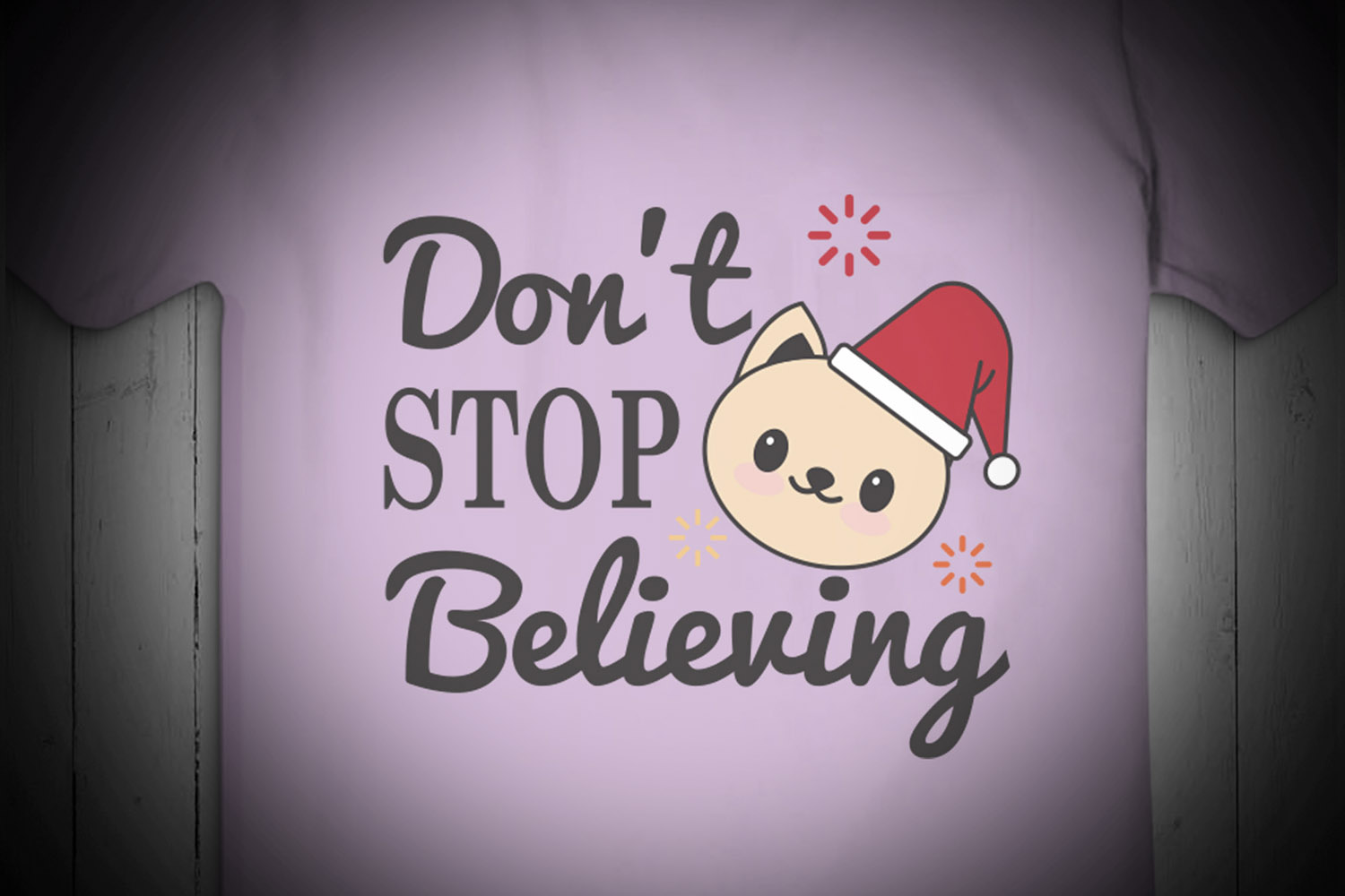 Don't STOP Believing, christmas, Christmas Svg, Kitty, xmas example image 2