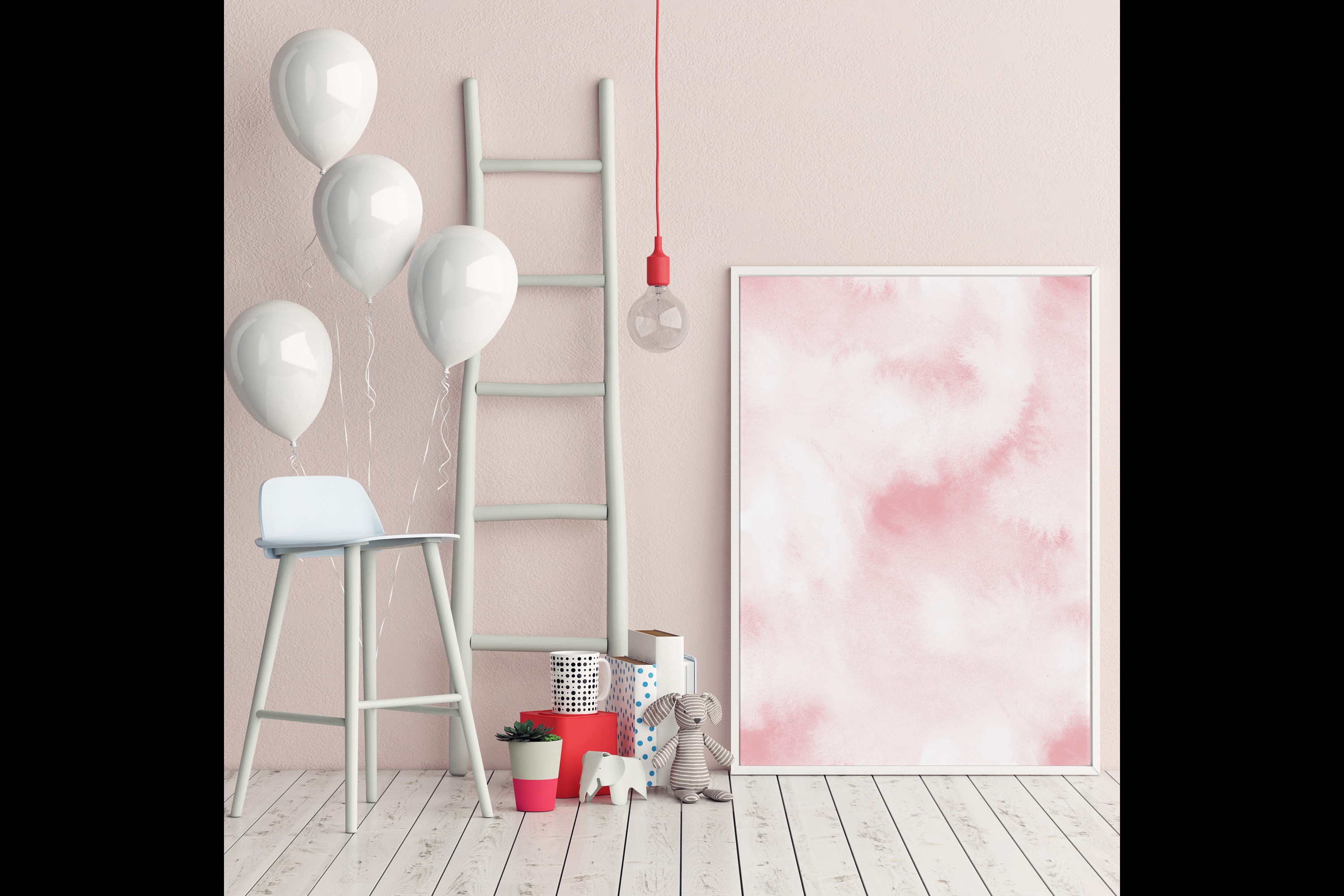 30 Watercolor Fairy Tale Cloudy Sky Baby Shower Paper Images example image 7