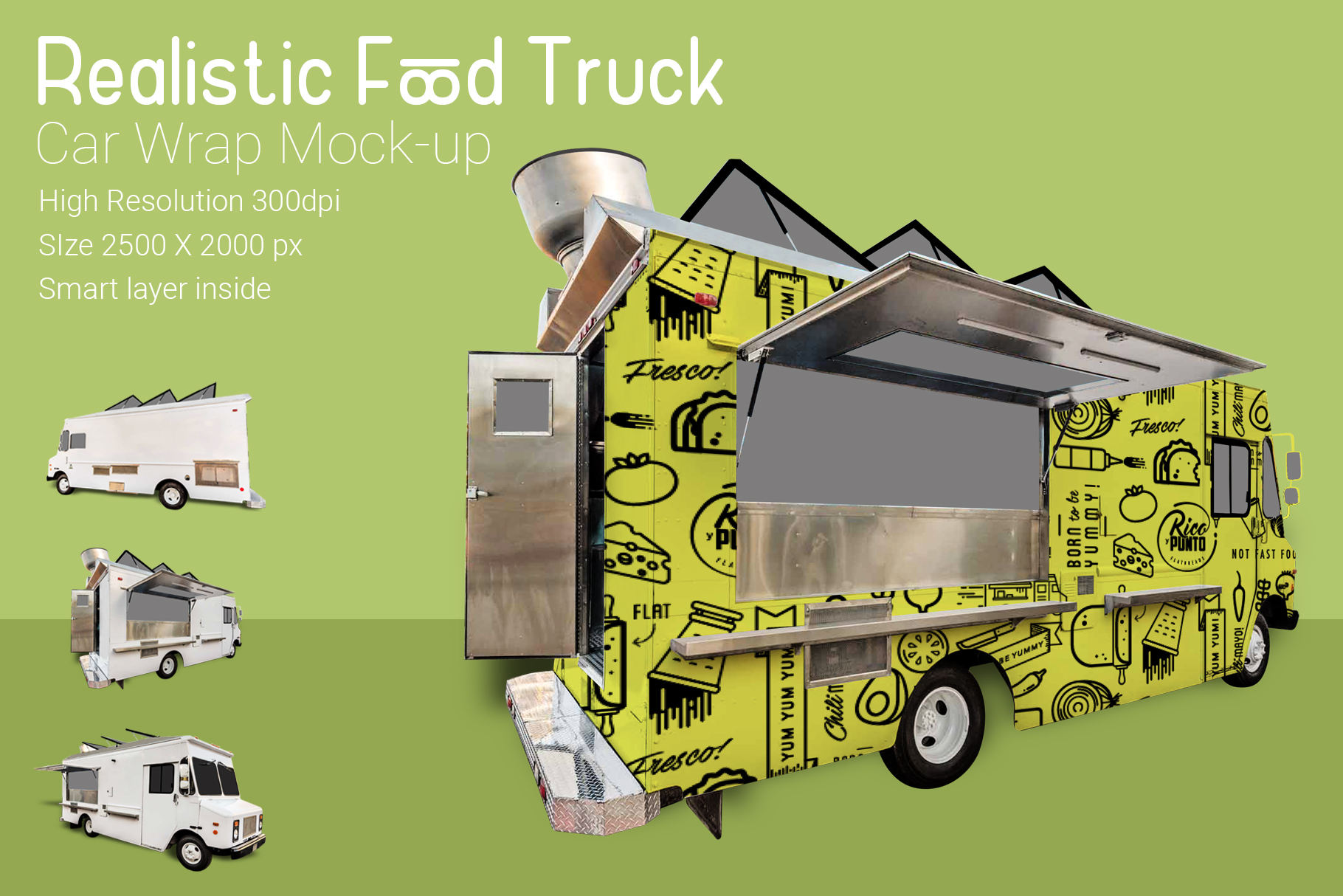 Food Truck Mock-Up example image 2