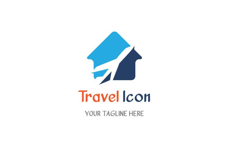 Flat Travel Logo Design example image 1