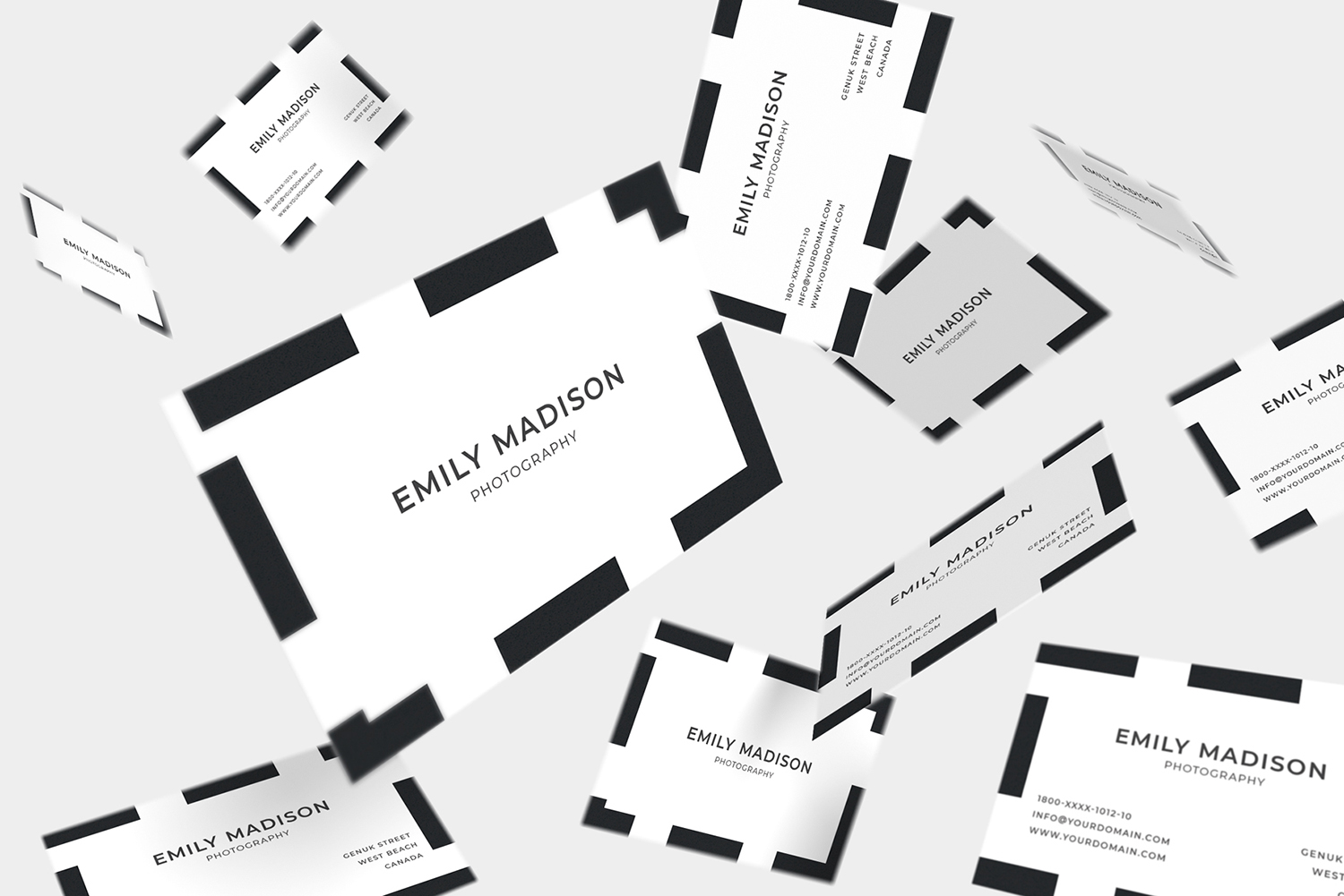 Clean Minimal Business Card Template example image 5