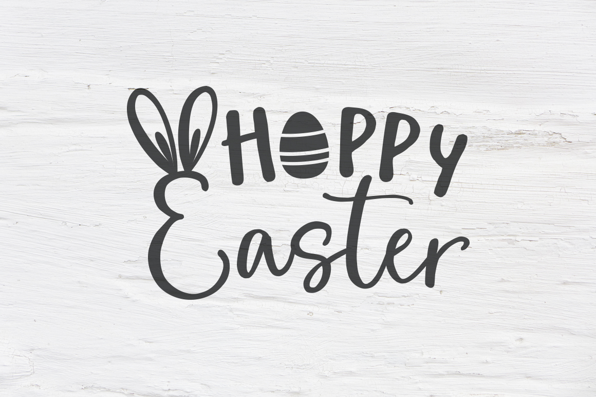 Hoppy Easter SVG, EPS, PNG, DXF example image 1