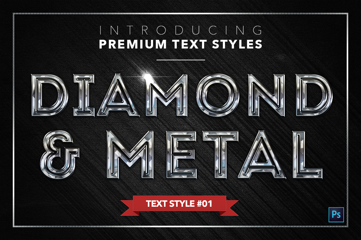 Diamond & Metal #2 - 16 Text Styles example image 2
