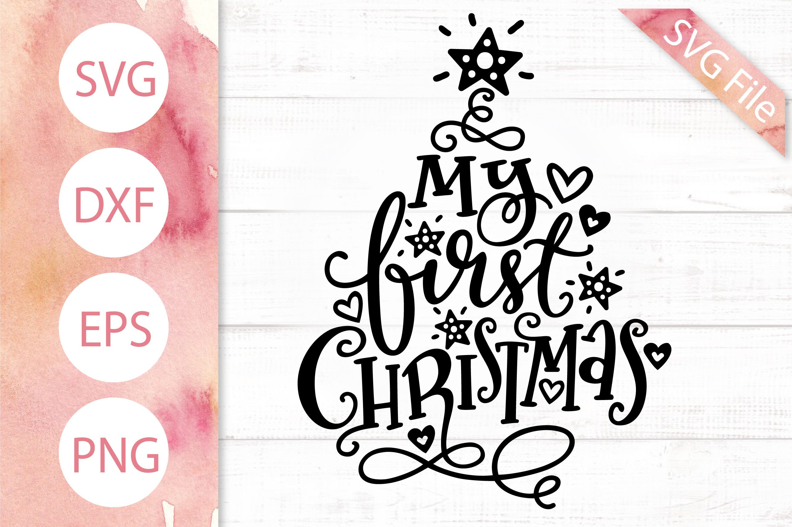 First Christmas.First Christmas Svg Dxf Png Eps Newborn Baby Svg Design