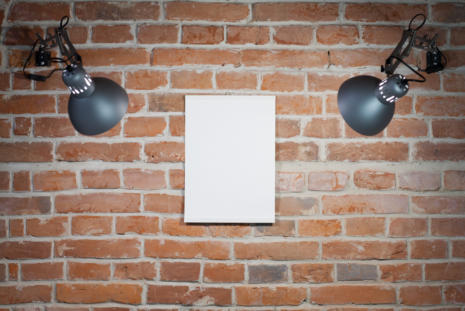 Blank poster on the wall example image 1