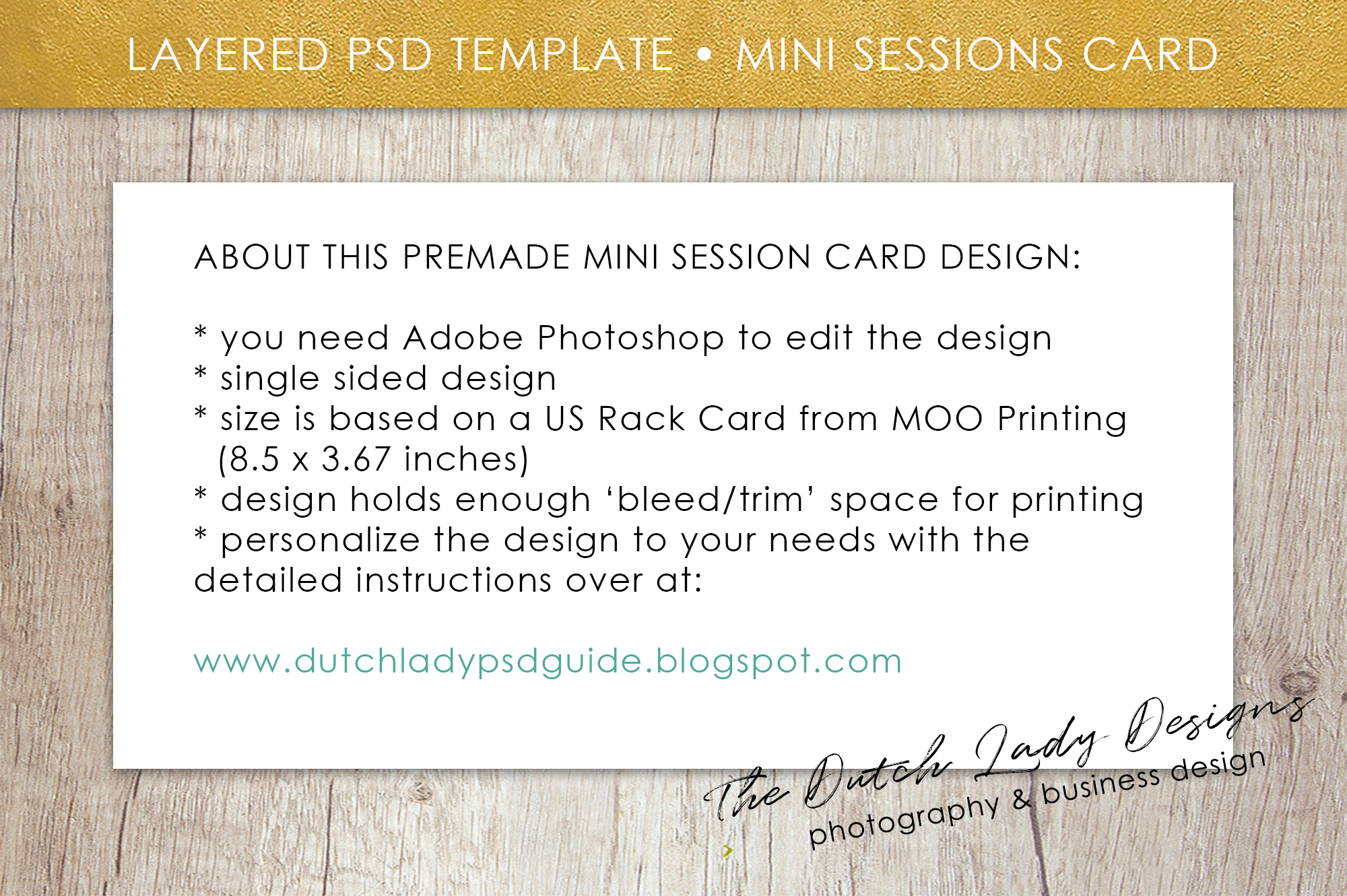 PSD Photo Mini Session Card Template - Design #30 example image 5