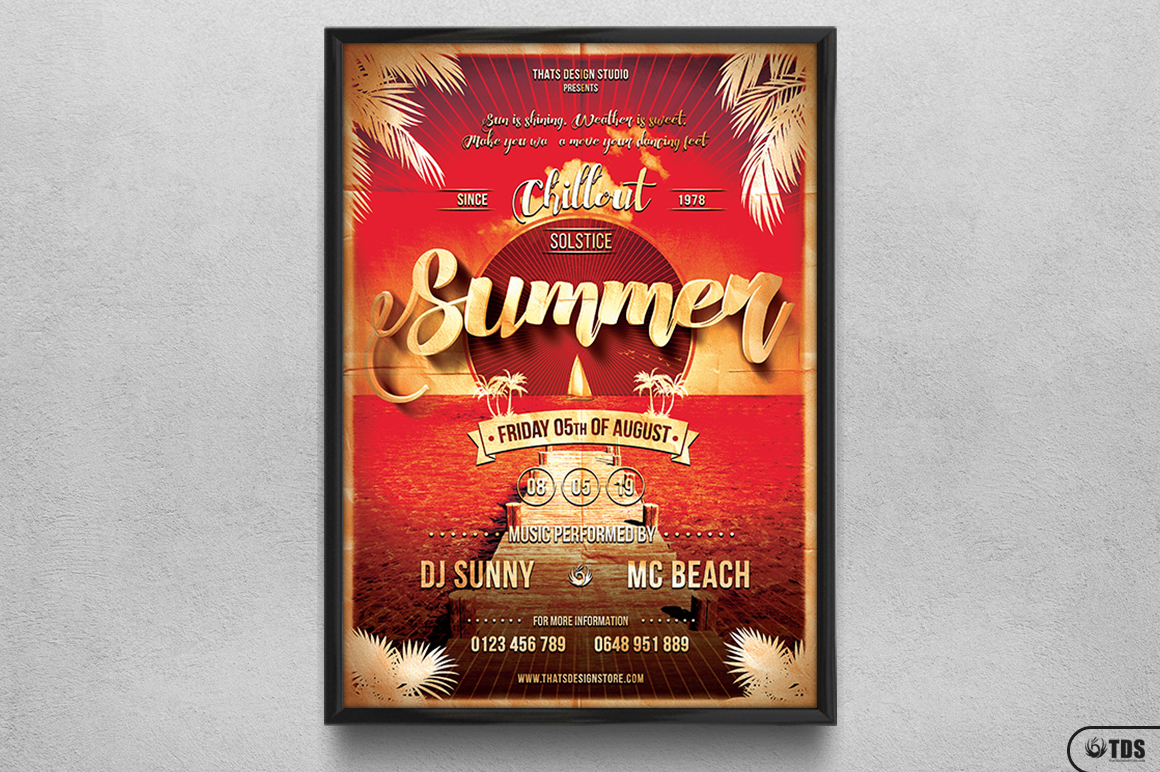 Summer Lounge Flyer Template V1 example image 6