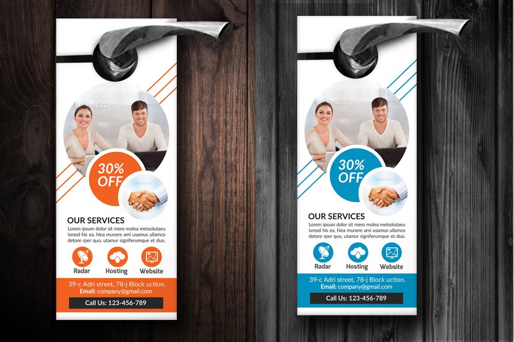 Business Solutions Consultant Door Hangers example image 2