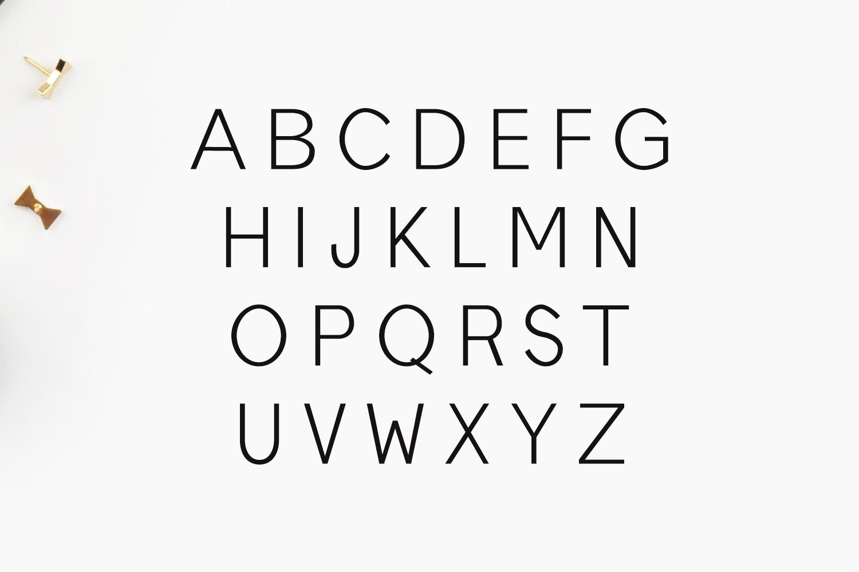 Edina Sans Serif Minimal Typeface example image 3