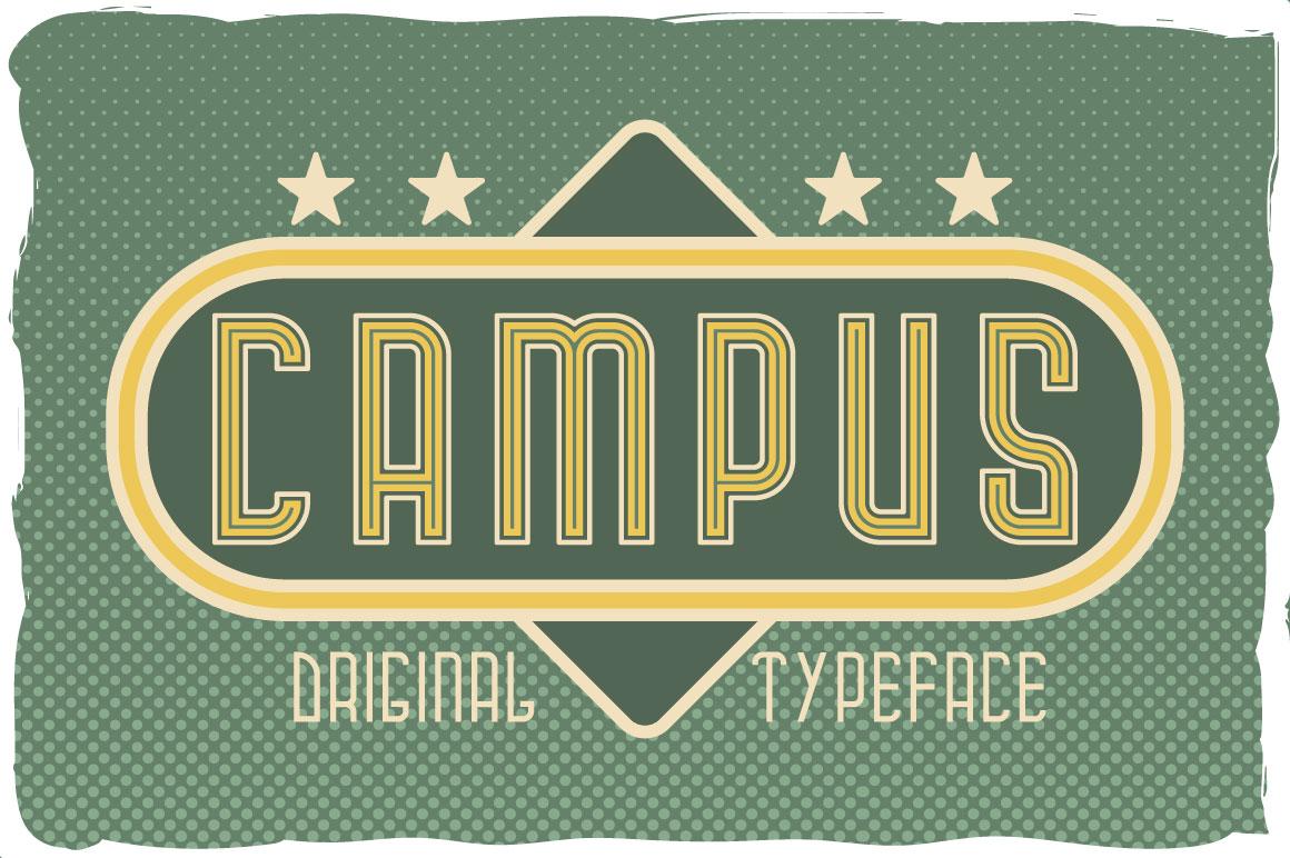 Campus typeface example image 1