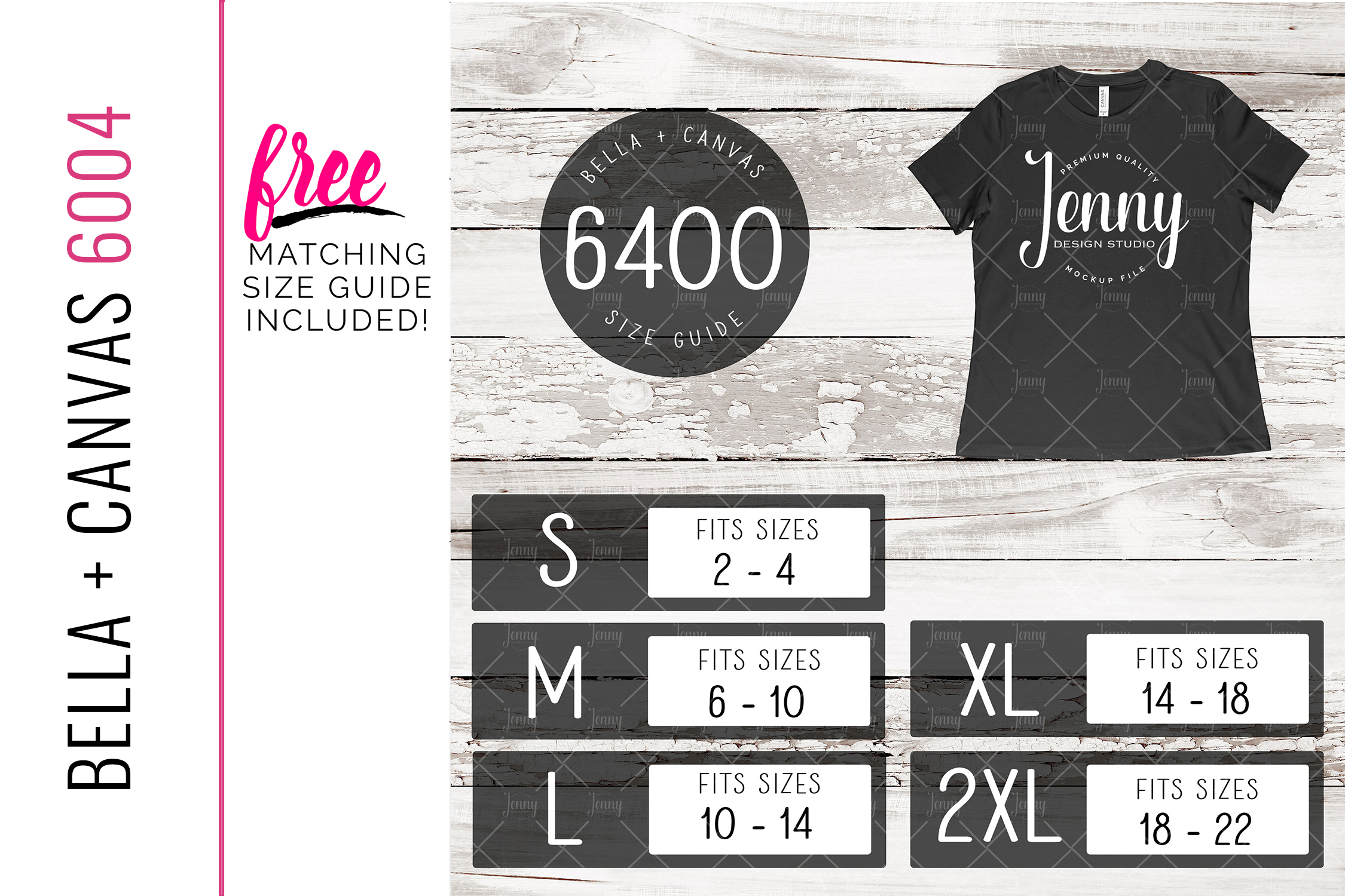 Bella Canvas 6400 Mockup Bundle, Womens T-Shirt, 40 Mockups example image 2