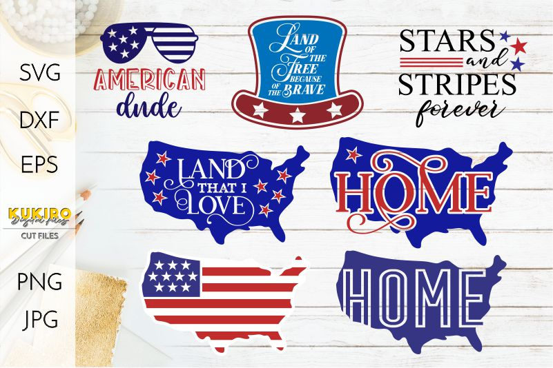 4th of July Bundle SVG - Big Patriotic Cut files Bundle example image 4