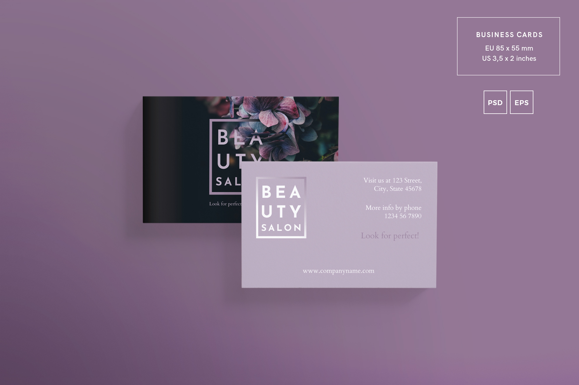Beauty Salon Business Card Design Templates Kit example image 2