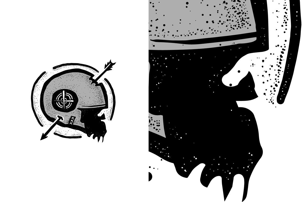 20 VECTOR skull illustration example image 9