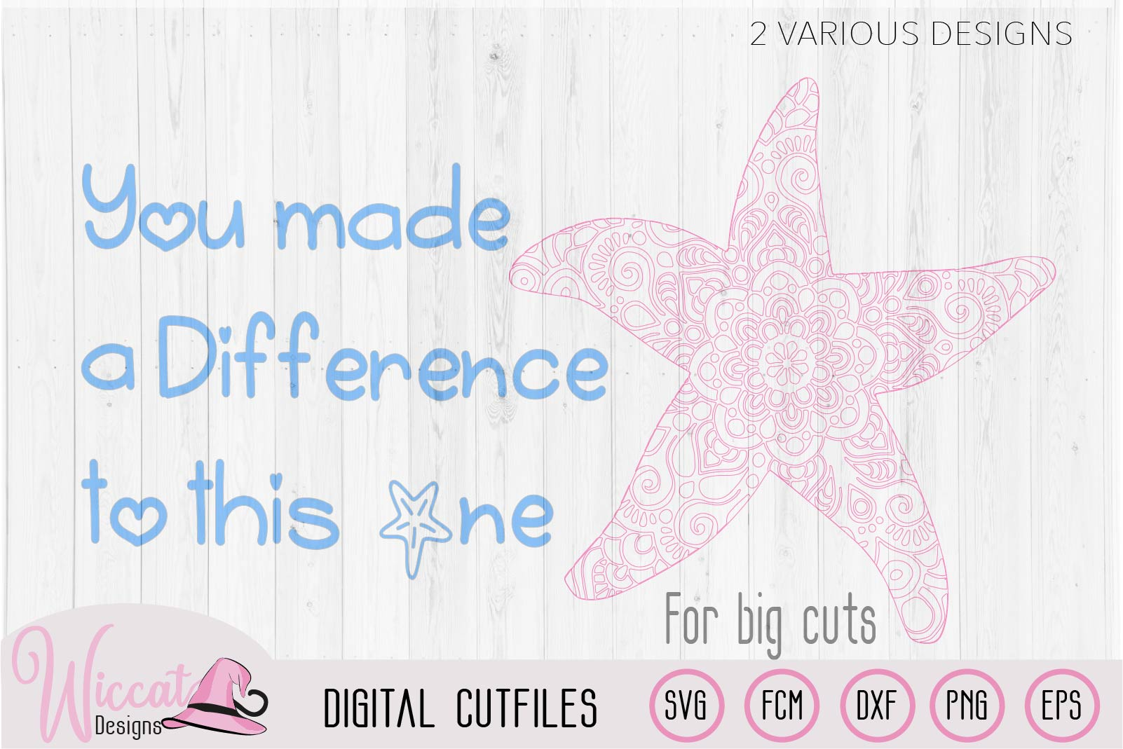 Starfish mandala, positive quote svg example image 3