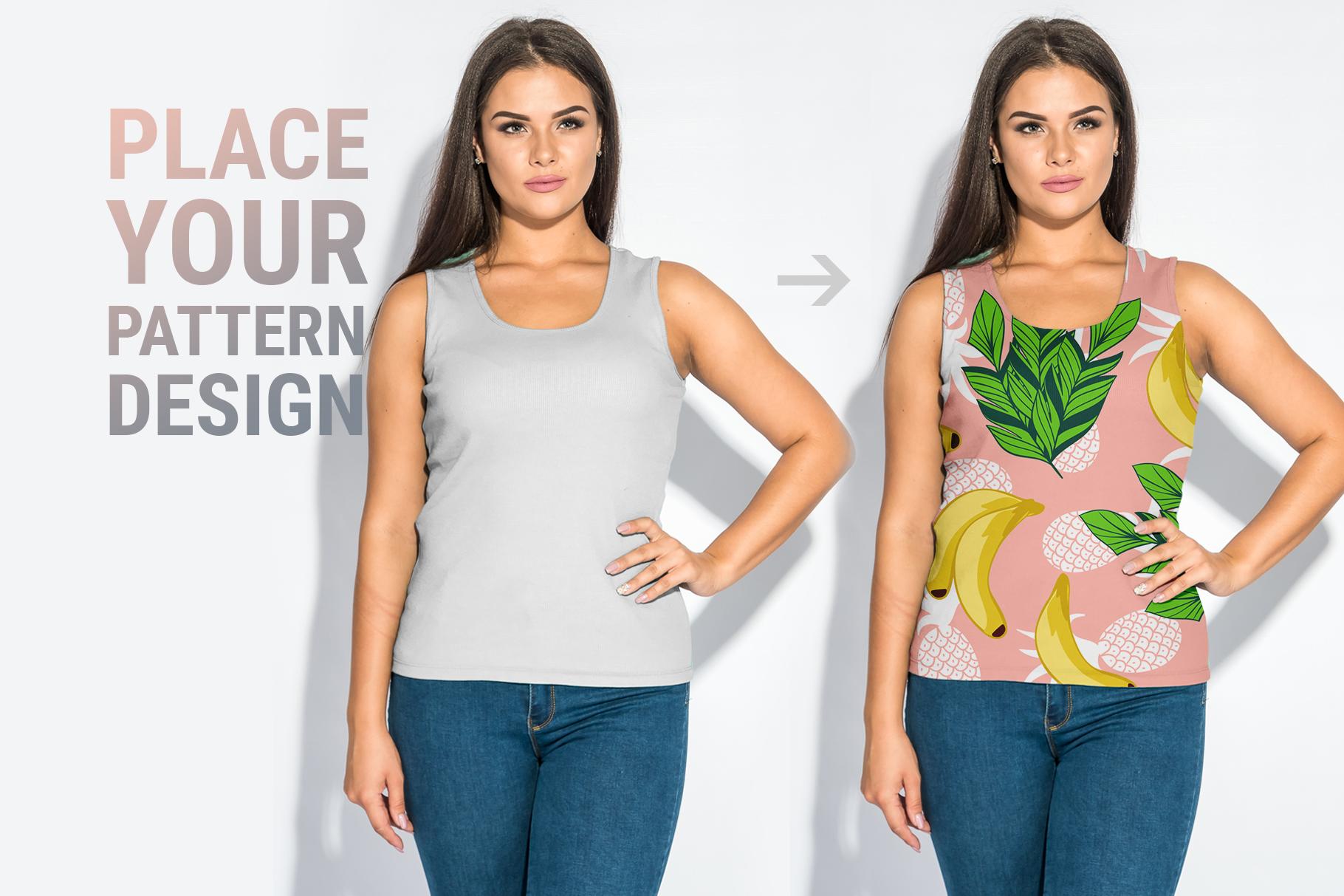 Plus Size T-shirt Mockup Bundle example image 3